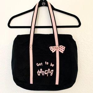 Dancing School Bag Black Pink